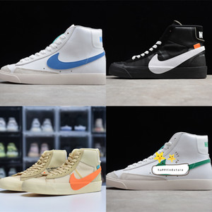 Nike SB Zoom Blazers Mid 77 Vintage Lucid Green 1977 QS Edge Womens Shoes Basketball Sneakers mens designer blazers Hack Pack midnight BQ6806-600
