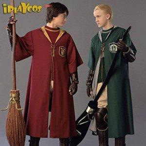 Harry Potter Gryffindor slyleau magic robe Quadribol desempenho cosplay Harry Potter uniforme manto da Grifinória slyleau capa mágica robe Quid
