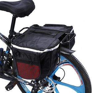 Bike Waterproof Double Road Bicycle Dcggw Red Back Rear Pannier Tail Trunk And Carrier Rack 25L Bag Cover Seat Rain Mountain Duwbc