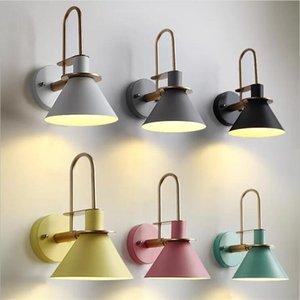 lâmpada de parede moderna lâmpada de cabeceira quarto sala escadas passagem das crianças nórdicos interior sótão simples ferro lâmpada de parede cinto