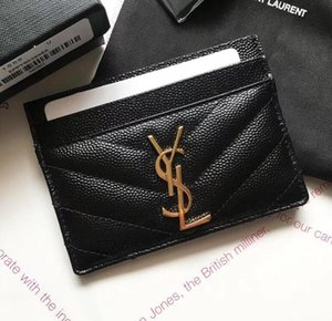 New Paris Mode-Accessoires Frauen Beste Art Mini-Wallets mit Kastenstaubbeutel Leder Geldbörse Geldbörse Lady Kartenhalter Y Markenmappe