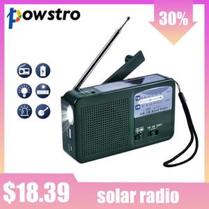 Solar Radio Solar FM,Emergency Hand Radio AM FM Weather With LED And Siren Function Self Powered 500mAh