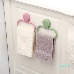 ABS Portable Towel Rack Easy To Use Bathroom Wall Towels Rings Paste Type Stick Firmly Rag Holder Hot 2 6xy Ww