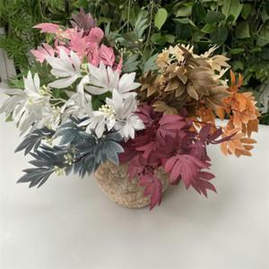 "Fake Platanus (7 stems bunch) 18.11"" Legth Simulation Schefflera Greenery for Wedding Home Showcase Decorative Artificial Plants"