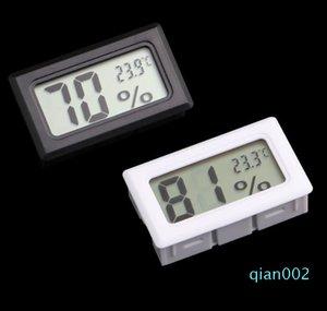 LCD رقمية صغيرة جزءا لا يتجزأ من الحرارة الرطوبة درجة الحرارة الرطوبة متر داخلي ميزان الحرارة أسود أبيض SN1074