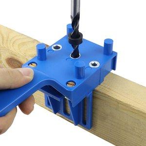 Guía ABEDOE plástico Tratamiento de la madera de clavijas de calar Taladro Localizador Herramienta de la carpintería de mano Taladro duraderos herramientas de bricolaje Muebles enclavijar