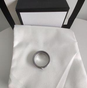 2020 Новые продукты Стерлинговые серебряные ретро кольцевые полосы кольцо мода Trend кольцо Top Qualtiy ювелирные изделия