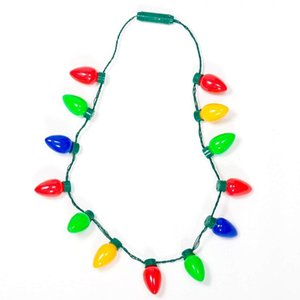 Multicolor мигающий Рождество лампы LED ожерелье Light Up Party Благоприятная лучшая вечеринка огни ожерелье рождественские украшения 12 лампочек 13 луковиц