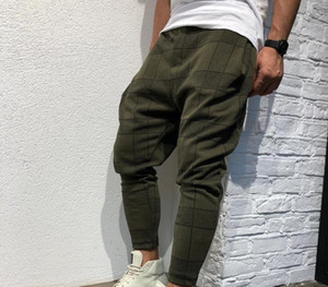 SIFAn Brand Designer Men Stylish Loose Plaid Pant Printed Casual Harem Pants Joggers Sporting Trousers Men Hip Hop Streetwear pantalon99