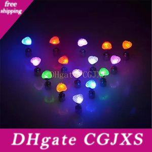 Ohrringe Led Herz -förmigen Luminous Ohrringe Tanz-Party-Zubehör leuchten LED-Bling Ohrstecker Ohrring Q0306