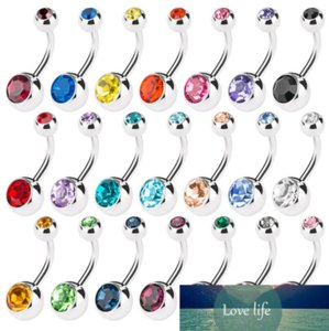 50pcs Mix Body Jewelry Piercings 316L Medical Stainless Steel Navel Ring Belly Button Ring Charms Accessory 8Colors