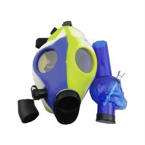 Tricolor cráneo tubo de máscara de silicona humo pipa de agua tubería de agua conjunto shisha pipas cachimbas chicha accesorios shisha tubería de silicona
