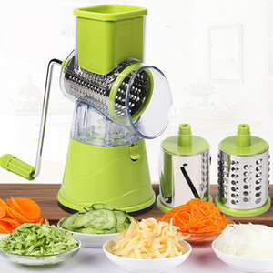 Multi-function rotary grater vegetable shredded potato machine vegetable grater manual cabbage kitchen knife kitchen tool Cl200920