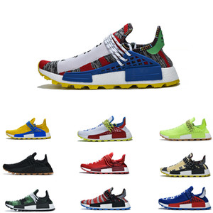 NMD HU raza humana de los zapatos corrientes Race Negro Amarillo La primera generación de la paz Deportes zapatillas de Pharrell Williams X BBC Hombres Mujeres Zapatos