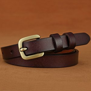 New Hot Womens Leather Belt Pure Leather Retro Pin Buckle Waistband Casual Pants Belt Factory Wholesale
