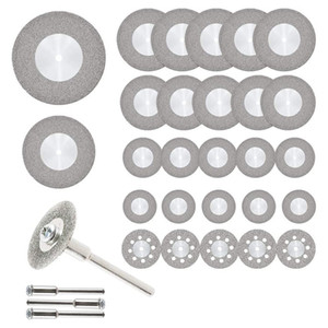 32Pcs Cutting Wheel Set Diamond Cutting Discs Rotary Tool with Mandrels Mini HSS Saw Blades for Metal Wood Stone