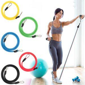 Direnç Bantları 12 adet / takım Set Çekme Halat Spor Band Yoga Tüpler Lateks Bandas Elasticas Egzersiz Egzersiz Ekipmanları