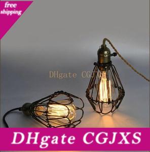 American Style lampada a sospensione con lampadine E26 4w 6W 8W cavo ST64 filamento luce gabbia uccello decorazione Light Restaurant Pendant europea