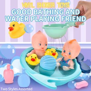 École maternelle Kid Pretend Baigner Canard Early éducation Simulé Baignoire Play Set Baby Bathing Set de jouets Jeux d'imitation