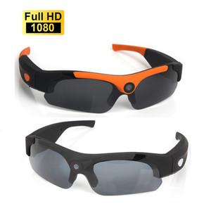 HD 1080P كاميرا الذكية الذكية نظارات أسود / أورانج الاستقطاب عدسة النظارات الشمسية كاميرا العمل DVR الرياضة كاميرا فيديو الدراجات غلس