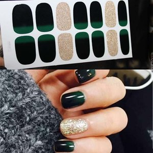 Nail Art Sticker Designed Full Wraps Shiny Decals Multicolor Nail Stickers Strips DIY Salon Manicure D32