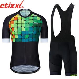 ETIXXL 2020 Cyclisme Vêtements Homme Cyclisme Set vélo Vêtements respirant anti-UV bicyclette Porter / Maillot manches courtes Ensembles