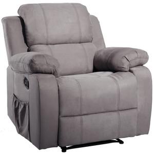 ORIS FUR. Suede riscaldata massaggio reclinabile Divano sedia ergonomica Salone con 8 Vibrazioni Motors PP039116EAA