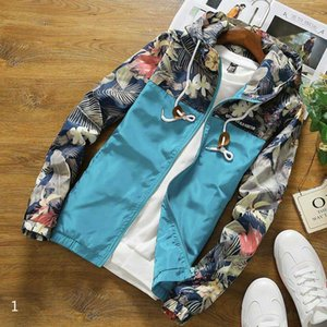 Hot Sale Men Jacket Hoodie 20s Arrivel High Quality Fashion Printed Loose Men Jacket with Hood 6-Colores Selected Coats Size S-3XL