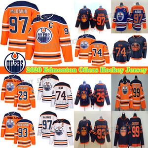 Edmonton Oilers 2019-2020 Terceiro Jerseys 97 Connor McDavid Jersey 29 leon draisaitl 74 Ethan Urso do hóquei Jerseys