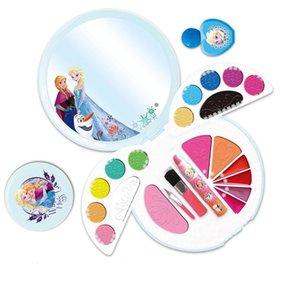 fashionable eye shadow + lipstick +brushes wholesale cosmetic combo makeup for girls 5+