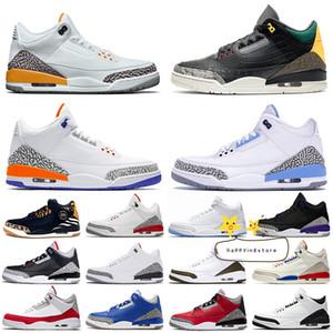 Nike air jordan retro 3 2020 Jumpman III Animal Instinct 2 Laser orange Herren-Basketball-Schuhe Knicks Rivals UNC Red Cement Court