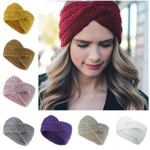 Presentes mulheres Designer Headbands malha Cruz cabo Headwrap Inverno Hairband Crochet Turban cabeça banda Enrole Moda Headband Acessórios para Cabelo
