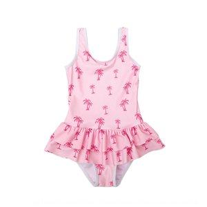 Специальное предложение горячей продажа цельная сладкий милый маленький Pengpeng юбка купальник принцесса Pengpeng юбка для девочек, детского купальника