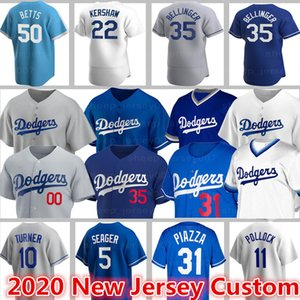 Los Angeles Formalar Dodgers 50 Mookie Betts Beyzbol 22 Clayton Kershaw Custom 35 Cody Bellinger 31 Joc Pederson 5 Seager 68 Ross Stripling