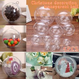 5 pièces Belle en plastique transparent Boules de Noël Babioles Sphère Fillable Ornement Arbre de Noël multifonctions XH8Z transparent