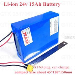 24v 15Ah pil lityum li-ion BMS elektrik motoru 350w 250w carzy sepeti + 2A şarj için marka 21700 kullanmak