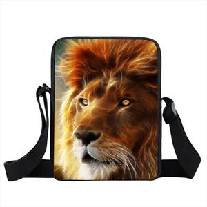 Tier Lion Wolf Owl Deer Mini Messenger Bag Frauen Handtaschen Männer Totes Umhängetasche Junge Mädchen Kreuz Taschen für Kinder Taschen Book