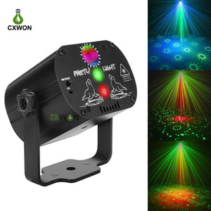 Laser discoteca luzes 60 padrões coloridos dj led luzes fase usb festa recarregável aniversário laser projetor de luz