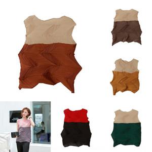 Z0Ty0 verão nova T-shirt tipo plissado temperamento mangas artesanal plissado T-shirt magro simples em linha reta das mulheres