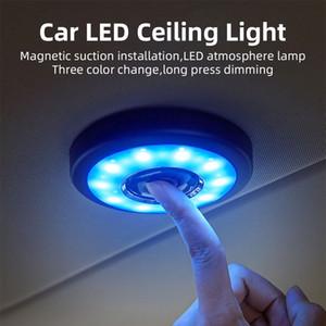 1PCS اللاسلكي بقيادة سيارة USB الداخلية سقف قبة ضوء القراءة USB شحن سقف مغناطيس لمس مصباح نوع ليلة الخفيفة القابلة لإعادة الشحن