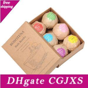 Bubble Bath Bombs Gift Set Oregon Huile Essentielle Lush fizzies mer parfumée Boules Sels Handmade Spa Cadeau Lx3905