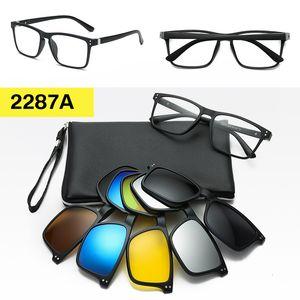 Óculos moldura e magnético Sunglasses Clip On Mens polarizada Magnet Mulheres Polaroid Clip On Optical óculos de armação