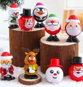 Weihnachten Kunststoff Mechanisches Spielzeug Weihnachtsmann Schneemann Uhrwerk Spielzeug Kinder Jump Geschenk Cartoon-Figuren Modelling Weihnachtsgeschenke GGA3756