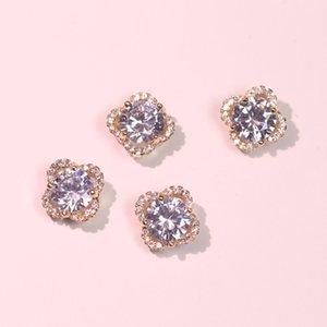 5pcs lot TN840 Alloy Zircon flower Nail Art decor Crystals jewelry Rhinestone nails accessories nail supplies decorations charms