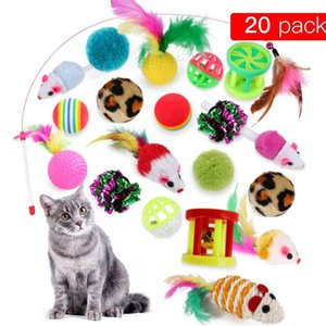 16 20pcs set Interactive Training Chew Ball Toy For Pet Cat Dog Funny Pet Cat Kitten Develop Bell Ball Toy