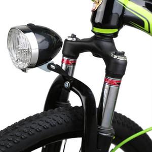 Faire du vélo Phare rétro vélo Fog 3 LED lampe frontale Vintage vélo avant Lumière de nuit équitation avec support de sécurité Lampe frontale