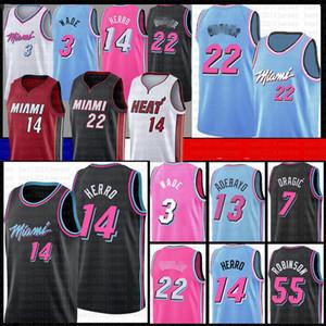 Bam 13 Jimmy Tyler 22 Butler 14 Herro Adebayo Basketball Jersey MiamiChaleur55 Dwayne Dwyane Wade 3 Goran Dragic Duncan Robinson Nunn