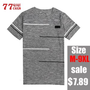T Shirt Men Fitness 7XL 8XL 9XL T-shirts Mens Summer O-Neck Casual T-shirt Male chemise homme Quick-dry High Quality Top Tees