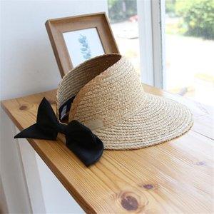 Summer Straw Hats Luxury Bow Design Girls Brand Hats Outdoor Sunscreen Women Caps Fashion Foldable Hats