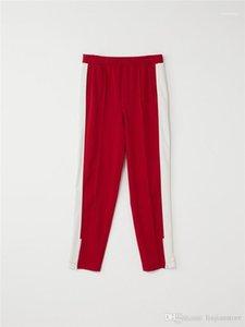 com Pants Zipper Fashion Designer Ins Hip Calças Pop Mens AWT painéis Calças retas Masculino Primavera Outono